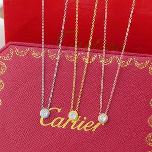 Çift için basit Kadınlar Yuvarlak Salkım Modern Tekli Yapay elmas kolye Moda Minimalism Gümüş Kolye Sevimli Çember kolye kolye