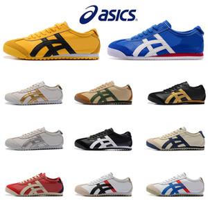 Asic Tiger Bruce Lee Chaussures plates Chaussures de course des femmes des hommes en cuir confortable Zapatillas Athletic Trainers Sports de plein air Sneakers Eur 36-44