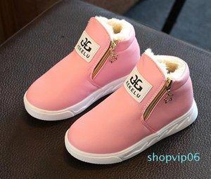 davidyue девушки сапоги мода Мартин девочек обувь зимние тапочки для детей, мех внутри зимние ботинки бесплатная shippingL29