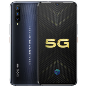 "Vivo d'origine iQOO Pro 5G téléphone portable 8 Go RAM 128 Go 256 Go ROM Snapdragon 855 plus Octa base 48.0MP Android 6.41"" Cell Phone ID d'empreintes digitales"