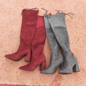 Uzun Renk Kaymaz Kadın çizme diz üzerinde Sıcak Satış-kadın kışlık ayakkabı kadın botas