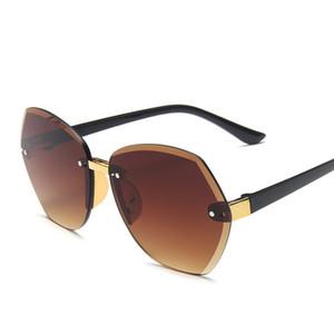 Moda corte sem aro dos óculos de sol Meninos e meninas Baby Trend Sunglasses UV resistentes New frame grande estilo infantil
