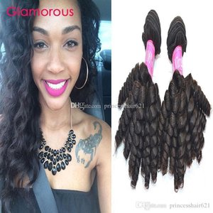 Glamorous Brazilian Hair Weft Baby Curly Virgin Hair 2 Bundles Free Shipping Brazilian Malaysian Indian Peruvian Human Hair Weave for women