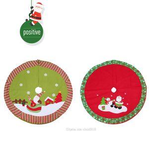 Envío gratis Hot Christmas Tree Falda Árbol de Navidad Decoración de la falda Al aire libre Supermercado Ornamento Manta Decoraciones para el hogar