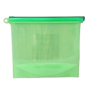 Silicone Bag Fresh Bag Kitchen Tool Reusable Storage Sealed Fruit Sealed Household Stand Up Zip Shut Container