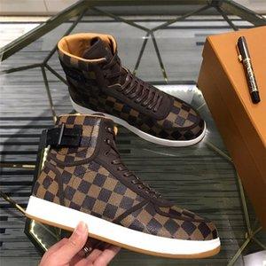 2020 últimas zapatillas de deporte de alta calidad de lujo icónicos zapatos de lujo casuales de los hombres de la lona del grafito impresos de cuero de velcro zapatillas de deporte 89898