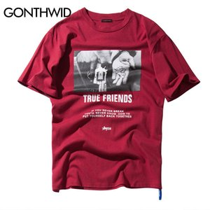 Gonthwid Hip Hop Hands Printed Short Sleeve T Shirts 2018 New Spring Summer Casual Cotton Tops Tees Mens Streetwear TshirtsQ190330