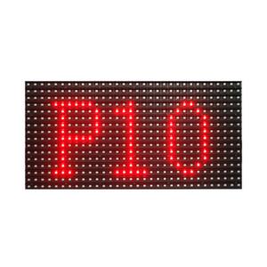 spedizione gratuita outdoor p10 smd colore rosso led scrolling modulo segno 320 * 160mm per display a LED messaggio