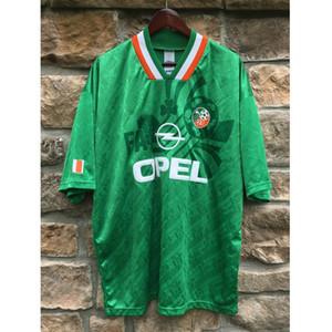 Ретро Ирландии 1990/1994 Футбольные Майки Кин Олдридж Футбол Футболка Camiseta Рубашки Классический Винтажный Комплект Майо Розовой