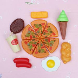 2019 nuovi calda di plastica divertente dei bambini del capretto Pizza Cola Ice Cream Food Kitchen Pretend Role Play giocattolo regalo di compleanno per il bambino