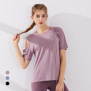 Yoga Suit de New secagem rápida Sports Top Mulheres de manga curta de secagem rápida da aptidão T-shirt Correndo Suit Mulheres Yoga Top Sports Shirt