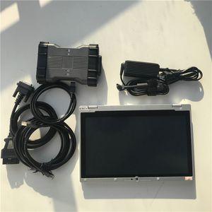 ميغابايت نجمة C6 VCI أداة تشخيصية CAN بروتوكول DOIP SSD فائقة 480gb لينة وير أحدث نسخة الكمبيوتر المحمول CF-AX2 i5 و وحدة المعالجة المركزية على استعداد لاستخدام