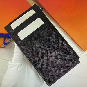 M62914 PARASI KART SAHİBİ Moda Sıkıştırılmış Cep Organizatör Para Kart sahipleri Fermuar Vaka Cüzdanlar Brazza Çoklu Posta Cüzdan Pasaport Kapağı 62914