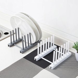 Minimalist Plate Drying Drain Stand Storage Shelf Plastic Dish Holder Rack Tableware Drainboard Kitchen Sink Organizer Gadgets
