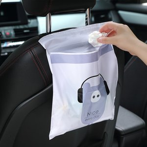 Garbage 2020 Portable 15Pcs auto Garbage Mounted sacchetto portatile impermeabile Borsa di stoccaggio adesivo del fumetto-monouso Trash Bag Car