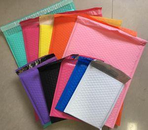 25шт упаковка конверт Большие мешки доставки проложенные Конверты Белый Розовый Черный Bubble Mailers Пузыри поли мэйлера polymailer