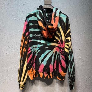 Tide brand in Europe and America AMIRI tie-dyed hoodies Amiri AMIRI high quality gradient color hooded sweater influx of men and women Excel