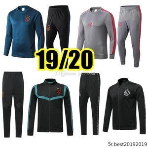 tracksuit survetement ZIYECH TADIC HUNTELAAR SCHONE 2019 2020 Ajax fc Soccer Football jacket chandal training suit
