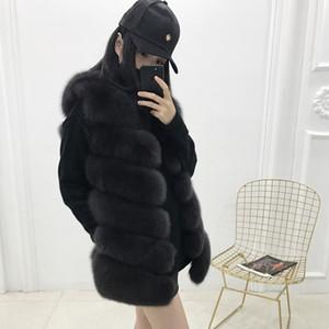 REROYFU Doğal Kürk Kadın Gerçek Kürk Ceket Orijinal Arktik Yelek Yeni Bayanlar Kadın Coats Yelek
