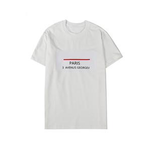 Mens estilista Camisetas ocasionales de la manera cuello redondo de impresión de la letra T Camisa Camisa mujeres de los hombres de alta calidad de manga corta