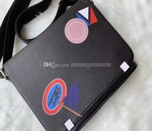 Top quality good quality handbags purses Classic Men black Haig saddle messenger Belt bags cross body Shoulder bag school with dust bag