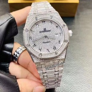 Top version 26322OR.ZZ.1222OR.01 Full Drilling Dial Silvery 316L Steel Case Japan Miyota Automatic Mechanical Mens Watch Steel Strap Watche