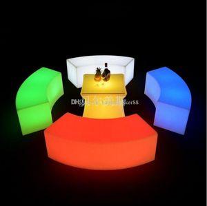 2020 wasserdicht Glühend bogenförmige Schlange Stühle Kombi-Modelle Wohnzimmersofa LED Bar Möbel Explosion Verkauf Barhocker
