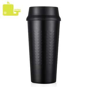 Oneisall 330ml Cup Leakproof Vaccum Flasks Thermos Insulated For Car Office Portable Thermal Mug Water Bottle Q190525