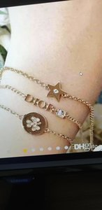 Designer clover high quality star style bracelet diamond bracelet jewelry