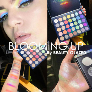 Beauty Glazed BLOOMING UP Matte Glitter Pressed Powder Eyeshadow Palette Waterproof Eye Neon Pigments Eye Shadow Pallete