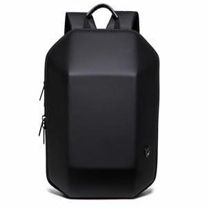 2019 New Projetado Simples 3D ABS Shell Backpack Pure Color Computer Backpack novidade Student Bag Homens e mulher de viagem Mochilas