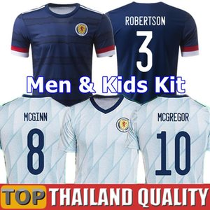 20 21 maillot de football Ecosse 2020 2021 ROBERTSON FRASER Maillot de foot ensemble NAISMITH MCGREGOR CHRISTIE FORREST MCGINN Hommes enfants Kit uniforme
