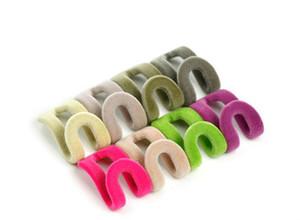 10Pcs Set Home Creative Mini Flocking Clothes Hanger Flocking Holder Easy Anti-Clip Hook Closet Organizer