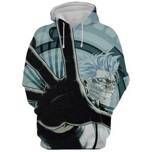Bleach Мужская толстовка с капюшоном Толстовки с капюшоном Мужская одежда Спортивная одежда Теплый уличный свитер Беговой наряд Veste homme Аниме Luffy Толстовка