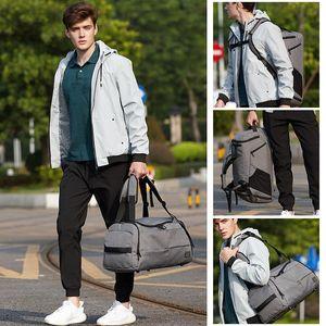Designer-SJ-Maurie Men Training Bag Sport Fitness Gym Bag Shoe Compartment Outdoor Travel Boarding Tote Backpack
