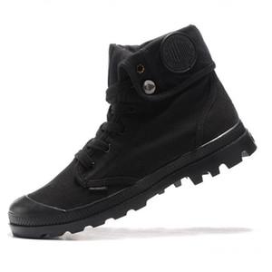 Hot Vente- mode toile chaussures de sport Palladium haut sommet militaire de l'armée cheville Bottes extérieur Anti-Slip Utility bottes Outillage Chaussures de course