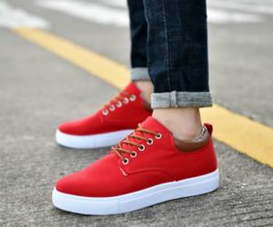 Moda versione coreana di marca Casual Shoes Rosso Blu Sneaker scarpe combinate economici modo delle donne degli uomini dei pattini casuali di alta qualità Top 40-45