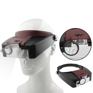 Headband Stil 1.5X / 3X / 2 LED Işıklar ile 8.5X / 10X Büyüteç