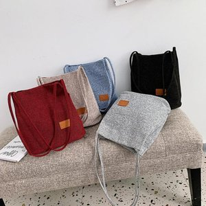 PinShang Women Canvas Magnetic Buckle Bucket Shoulder Bag for Shopping Dating Picknick