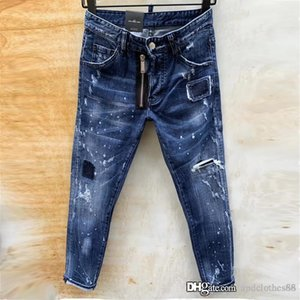 2020 men designer jeans motorcycle Top Quality Brand Designer Men Denim Embroidery Pants Fashion New Style mens slim fit jeans