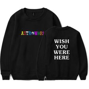 T-shirt manches longues Hauts Astroworld lettres Wish you were here T-shirts Vêtements TravisScotts Printemps Hommes