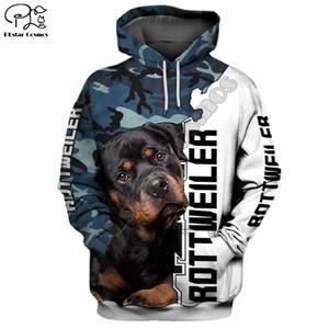 Mens divertente Rottweiler cane 3D stampare nuovi hoodies autunno lungo maniche Felpe donne pullover tuta primavera hoody outwear Y200519