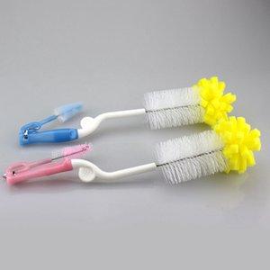 Nouveau bébé multifonction Nipple Brush Outils de lavage Soins Biberon Brushs Haute Qualité Produits pratiques