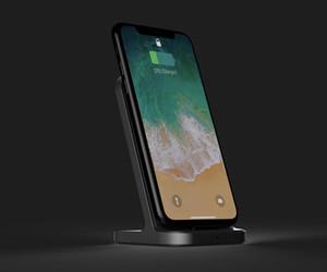 7.5W 10W vertical alta taxa de conversão de alta velocidade Qi carregador sem fio para iPhone Samsung
