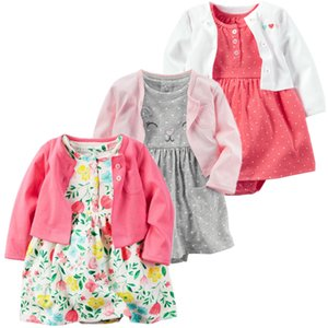 Ropa de verano de primavera Mameluco 2 unids / set Newborn Girl algodón Ropa infantil Conjuntos Baby Jumpsuit Q190521