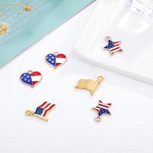 قطرة جديدة للنفط العلم الأميركي سحر سبيكة اليدوية قلادة معدنية صغيرة سريع الشحن عن طريق DHL