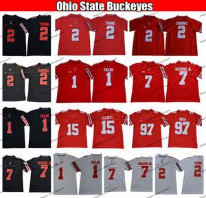 2020 Ohio State Buckeyes 2 perseguição Jovem Justin Campos 7 Dwayne Haskins Jr. JK Dobbins Nick Bosa Ezequiel Elliott College Football Jerseys