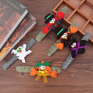 Pulseras Halloween Pumpkin Bat Ghost Beat The Circle Niños Pulseras Led Light Lentejuelas Con Lámpara Brazaletes Decorar Artículos 2 4jh p1