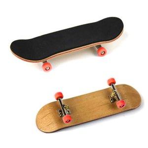 New PU Maple Wood Cute Party Favor Kids Children Mini Finger Board Fingerboard Skate Boarding Toys 88