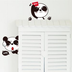 1Pc Creative Switch Cartoon Sticker Cute Wall Paste Waterproof DIY Wall Stickers Cover Socket Decoration Other Home Decor